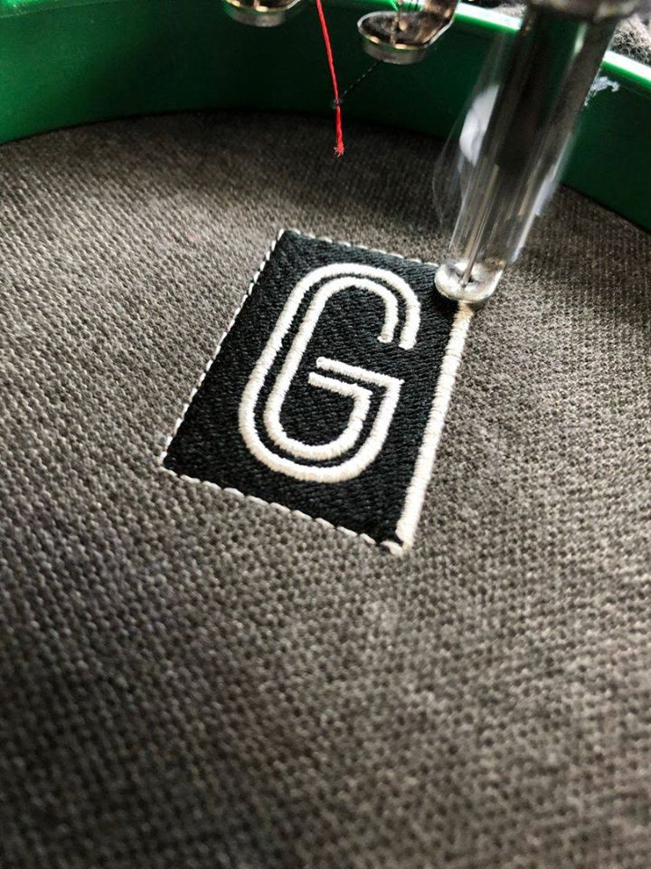 Embroidered Polo shirt madeira thread tajima machine